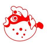 σούσια fugu αρχιμαγείρων ράβδ Στοκ Εικόνες