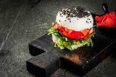 Σούσι-burger, σάντουιτς Στοκ εικόνες με δικαίωμα ελεύθερης χρήσης