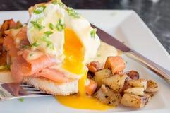 σολομός αυγών του Benedict πο&upsilon Στοκ εικόνες με δικαίωμα ελεύθερης χρήσης