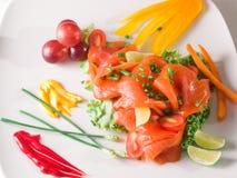 Σολομός λαχανικών τροφίμων στοκ εικόνες