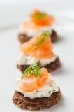 Σολομός με το τυρί κρέμας Στοκ φωτογραφίες με δικαίωμα ελεύθερης χρήσης