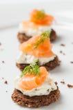 Σολομός με το τυρί κρέμας Στοκ εικόνα με δικαίωμα ελεύθερης χρήσης