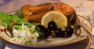 Σολομός ψαριών για το γεύμα Στοκ Εικόνες