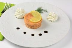 σολομός tartare Στοκ Εικόνες