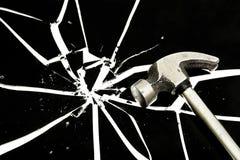 σπάζοντας γυαλί στοκ εικόνες με δικαίωμα ελεύθερης χρήσης