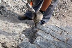 σπάζοντας εργάτης πετρών Στοκ Εικόνες
