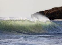 Σπάζοντας κύματα από το Pacific Coast Coasta Rica Στοκ Εικόνες