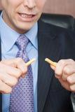 Σπάζοντας μολύβι επιχειρηματιών Στοκ Φωτογραφία