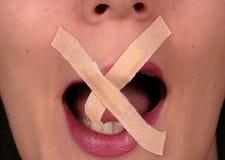 σπάζοντας σιωπή Στοκ φωτογραφία με δικαίωμα ελεύθερης χρήσης