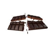 Σπάζοντας σοκολάτα Στοκ εικόνα με δικαίωμα ελεύθερης χρήσης