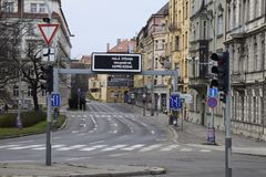 Σπάνια κενή παλαιά πόλη οδών της Πράγας Στοκ Εικόνες