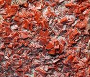 Σπάνια κόκκινα φυσικά κρύσταλλα φθορίτη Στοκ Εικόνα
