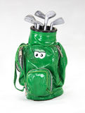 Σπάνια παλαιά τσάντα γκολφ παιχνιδιών πράσινη Στοκ Εικόνες