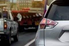 Σπάσιμο αυτοκινήτων από τη σύνδεση κυκλοφορίας Στοκ Εικόνα