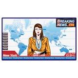 σπάσιμο κάθε πιό πρόσφατης αναπροσαρμογής ειδήσεων ελεύθερη απεικόνιση δικαιώματος