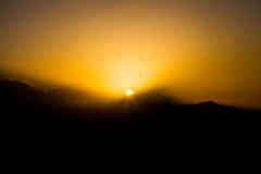 Σπάσιμο της αυγής στη σειρά Annapurna Himalayan, Νεπάλ Στοκ εικόνα με δικαίωμα ελεύθερης χρήσης