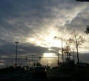 σπάσιμο φωτός του ήλιου κατευθείαν Στοκ Φωτογραφία