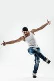Σπάσιμο-χορευτής νεαρών άνδρων στοκ εικόνες με δικαίωμα ελεύθερης χρήσης