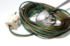 Σπάταλη έννοια της ηλεκτρικής ενέργειας Στοκ Εικόνα