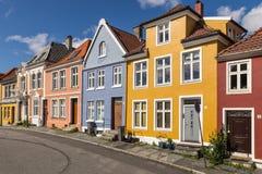 Σπίτια άποψης οδών του Μπέργκεν στοκ φωτογραφία με δικαίωμα ελεύθερης χρήσης