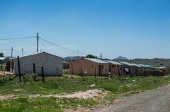 Σπίτια δήμων στο όμορφο τοπίο, ελεύθερο κράτος, Νότια Αφρική Στοκ Εικόνα