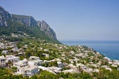 σπίτια βουνοπλαγιών capri στοκ εικόνα με δικαίωμα ελεύθερης χρήσης