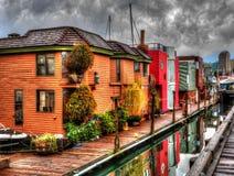 Σπίτια επιπλεόντων σωμάτων Στοκ εικόνα με δικαίωμα ελεύθερης χρήσης
