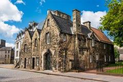 Σπίτια Εδιμβούργο στη Σκωτία, UK Στοκ Εικόνα