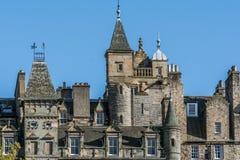 Σπίτια Εδιμβούργο στη Σκωτία, UK Στοκ φωτογραφία με δικαίωμα ελεύθερης χρήσης