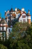Σπίτια Εδιμβούργο στη Σκωτία, UK Στοκ Εικόνες