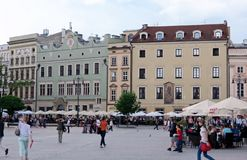 Σπίτια δημοτών, Κρακοβία Στοκ φωτογραφία με δικαίωμα ελεύθερης χρήσης