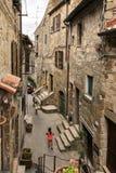 Σπίτια ηφαιστειακών τεφρών Pitigliano, μεσαιωνική πόλη στην Τοσκάνη, Ιταλία στοκ εικόνα