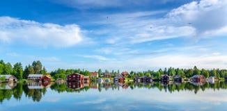 Σπίτια θαλασσίως Στοκ εικόνα με δικαίωμα ελεύθερης χρήσης
