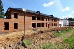 Σπίτια κάτω από την κατασκευή Στοκ φωτογραφία με δικαίωμα ελεύθερης χρήσης