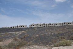 Σπίτια κάτω από την κατασκευή Arrecife Στοκ εικόνα με δικαίωμα ελεύθερης χρήσης
