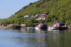 Σπίτια και βάρκες Meloey Στοκ εικόνα με δικαίωμα ελεύθερης χρήσης