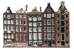 σπίτια καναλιών του Άμστερνταμ Στοκ φωτογραφίες με δικαίωμα ελεύθερης χρήσης