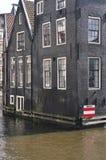 Σπίτια καναλιών του Άμστερνταμ Στοκ Εικόνες