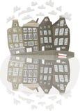 σπίτια καναλιών του Άμστε&rho Στοκ φωτογραφία με δικαίωμα ελεύθερης χρήσης