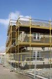 σπίτια κατασκευής κάτω Στοκ εικόνα με δικαίωμα ελεύθερης χρήσης