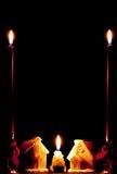 σπίτια κεριών Στοκ φωτογραφίες με δικαίωμα ελεύθερης χρήσης