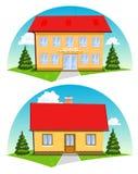 Σπίτια κινούμενων σχεδίων Στοκ εικόνες με δικαίωμα ελεύθερης χρήσης