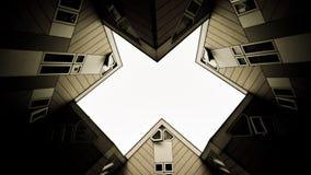 Σπίτια κύβων του Ρότερνταμ Στοκ Φωτογραφίες