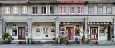 Σπίτια κληρονομιάς, πόλη του George, Penang, Μαλαισία Στοκ Φωτογραφία