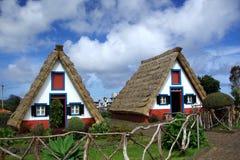 σπίτια Μαδέρα Στοκ Εικόνες
