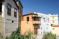 Σπίτια με τα μπαλκόνια Στοκ Εικόνες