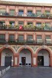 Σπίτια με τα μπαλκόνια Στοκ εικόνες με δικαίωμα ελεύθερης χρήσης