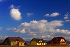 σπίτια νέα Στοκ εικόνες με δικαίωμα ελεύθερης χρήσης