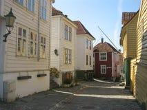 σπίτια Νορβηγία ξύλινη Στοκ φωτογραφία με δικαίωμα ελεύθερης χρήσης