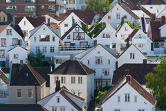 σπίτια Νορβηγία Stavanger Στοκ εικόνα με δικαίωμα ελεύθερης χρήσης